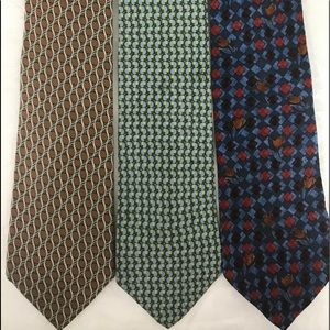 Ermenegildo Zenga Silk Ties(3) Made In Italy NWOT